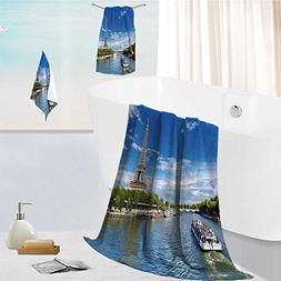 AuraiseHome Luxurious Soft and Thick Bath Towels Paris,the
