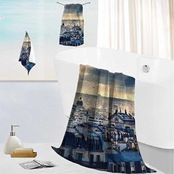 SCOCICI1588 Luxurious Soft and Thick Bath Towelsery of Paris