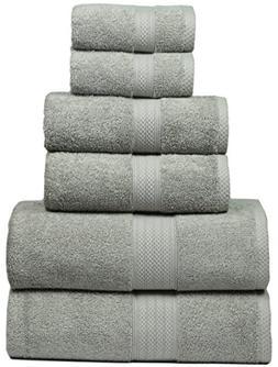 MAHI HOME Luxurious 6 Piece Towel Set, 100% Ring Spun Combed