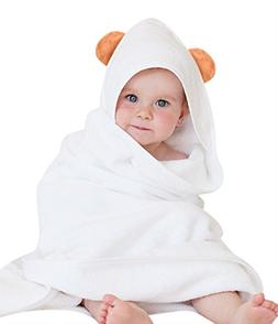 Luxury Bamboo Hooded Baby Towel Hypoallergenic - Hands-Free