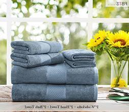 Luxury Bath Towels Sets large 6 Pack Hotel Cotton Towel Set
