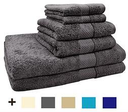 TreeWool 6 Piece Luxury Bathroom Towel Set  600 GSM Supreme