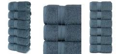 Luxury Premium Turkish Cotton 6-Piece Hand Towels, Long-Stab