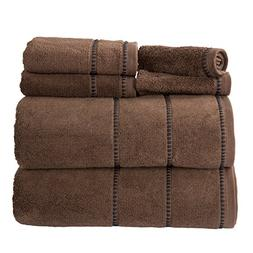 Luxury Cotton Towel Set- Quick Dry, Zero Twist and Soft 6 Pi