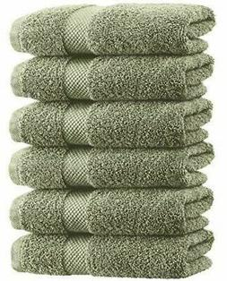 Luxury Green Hand Towels - Soft Cotton Absorbent Hotel towel