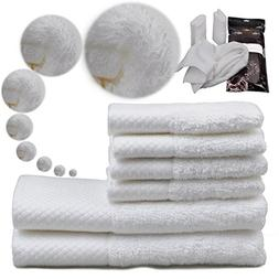 Monclaire 3pcs Luxury Hotel Collection Hand Towels White 100