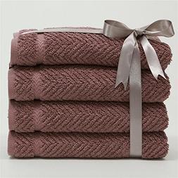 Linum Home Textiles Luxury Hotel & Spa Herringbone Weave 100