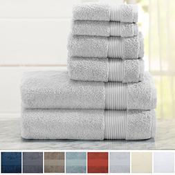 Great Bay Home 100% Turkish Cotton Washcloths. Includes 2 Wa