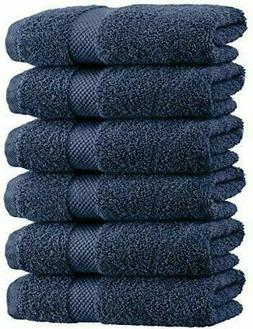 Luxury Navy Blue Hand Towels - Soft Cotton Absorbent Hotel t