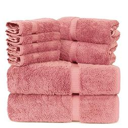 Luxury Spa and Hotel Quality Premium Turkish 8 Pieces Towel
