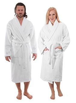 SALBAKOS Luxury Terry Cotton Cloth Plush Bathrobe - Premium