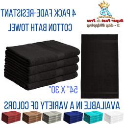 "Luxury Utopia 4 Pack 16""x28"" 100% Cotton Hand Towel Set Gym"