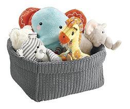 mDesign Knit Baby Nursery Closet Organizer, Bin for Stuffed