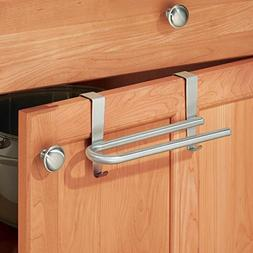 mDesign Over-the-Cabinet Curved Kitchen Dish Towel Bar Holde