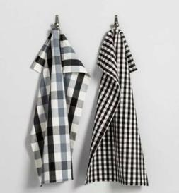 MAGNOLIA Hearth & Hand Kitchen Towels Set of 2 Gingham Black
