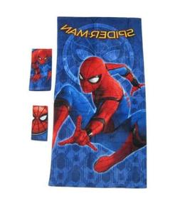 Marvel Spiderman 3-piece Bath Hand Fingertip Towel Set Beach