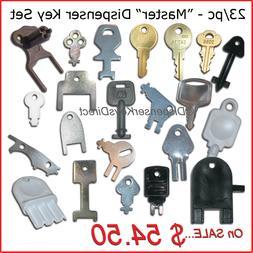 Master Set of all Dispenser Keys for Hand Towel, Toilet Tiss