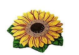 MAXYOYO Sunflower Imprint Anti-slip Mat Cute Doormat Colorfu