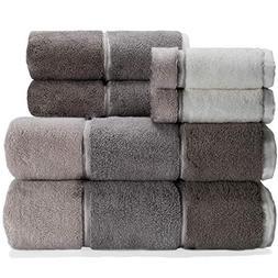 maya grey bath towel set