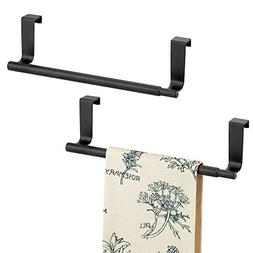 mDesign Adjustable, Expandable Kitchen Over Cabinet Towel Ba