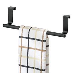 mDesign Decorative Metal Kitchen Over Cabinet Towel Bar - Ha