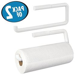 mDesign Paper Towel Holder for Kitchen - Pack of 2, Wall Mou