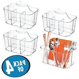 mDesign Plastic Cutlery Storage Organizer Caddy Bin - Tote w