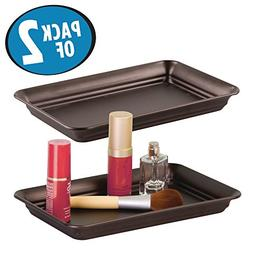 mDesign Storage Organizer Tray for Bathroom Vanity Counterto