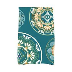 "E by design Medallions Geometric Print Hand Towel, 16"" x 25"""