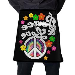 Mens And Womens Peace And Love Tie Dye Peace Sign Adjustable