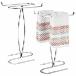 mDesign Metal Hand Towel Holder Stand for Bath Vanity Counte
