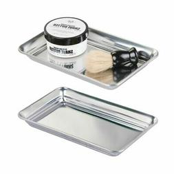 mDesign Metal Storage Organizer Tray for Bathroom Vanity Cou