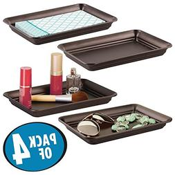 mDesign Metal Storage Organizer Tray for Bathroom Vanity Cou