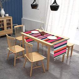 AYUQI Mexican Serape Blanket Table Runner, Elegantly Handwov