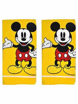 Mickey Mouse Kitchen Dish Towels 2-Piece Set Yellow