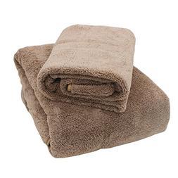 eSTAR Premium Microfiber Coral Velvet Towel Set : 1 Bath Tow