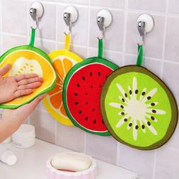 Microfiber Cute Fruit Print Hanging Towel Quick-Dry Cleaning