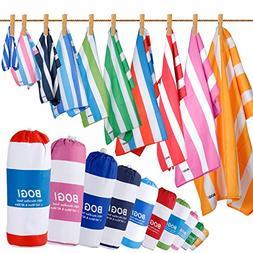 BOGI Microfiber Sports&Travel Towel-Pack of 2–XL:79''x35.5
