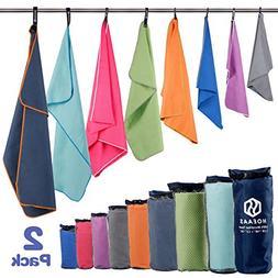 HOEAAS Microfiber Sport Travel Towel Set--Quick Dry, Absorbe