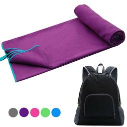 Microfiber Towels Set Travel Towel & Backpack Fast Drying Be