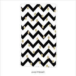 Vipsung Microfiber Ultra Soft Hand Towel-Chevron Zig Zag Sym