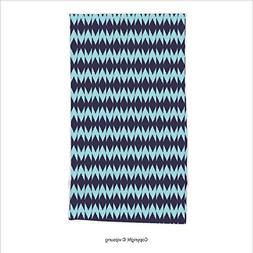 Vipsung Microfiber Ultra Soft Hand Towel-Navy Diamond Shaped