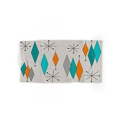 "Society6 Mid-Century Modern Diamond Pattern Hand Towel 30""x1"