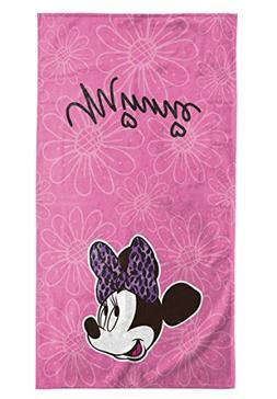 Disney Minnie Mouse Cotton Hand Towel, Minnie Hand Towel