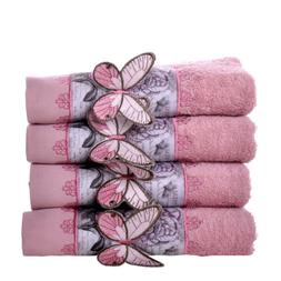 minteks butterfly embroidered hand face towel 100
