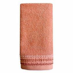 Dena Modern Solid Hand Towel, Coral