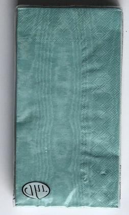 IHR Moiree Mint Guest Buffet Dinner Hand Towels Napkins Pape