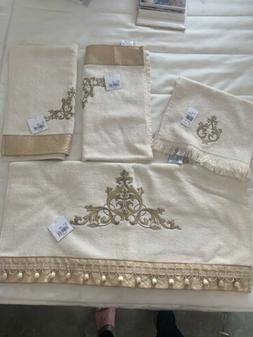 Avanti Monaco 4-Piece Towel Set, Ivory