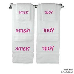 BC BARE COTTON Monogram Personalized Name Six Piece Towel Se