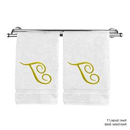 Monogrammed Hand Towel, Personalized Gift, 16 x 30 Inches -